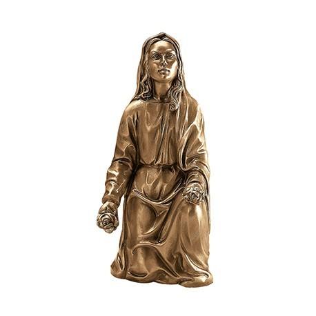 Estátua Nossa Senhora Ajoelhada cm. 44x20 base cm. 19x23